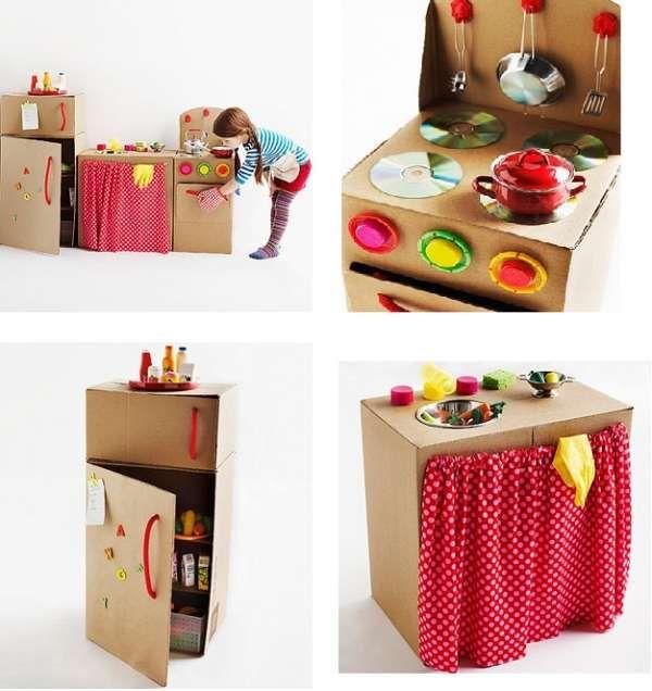 Mini-cuisine en carton