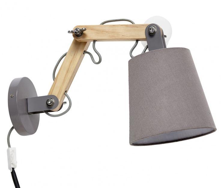"Wandlamp ""Loft"" grijs"