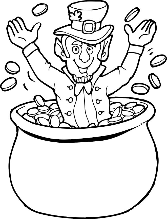 pot of gold coloring page - Blank Rainbow To Color