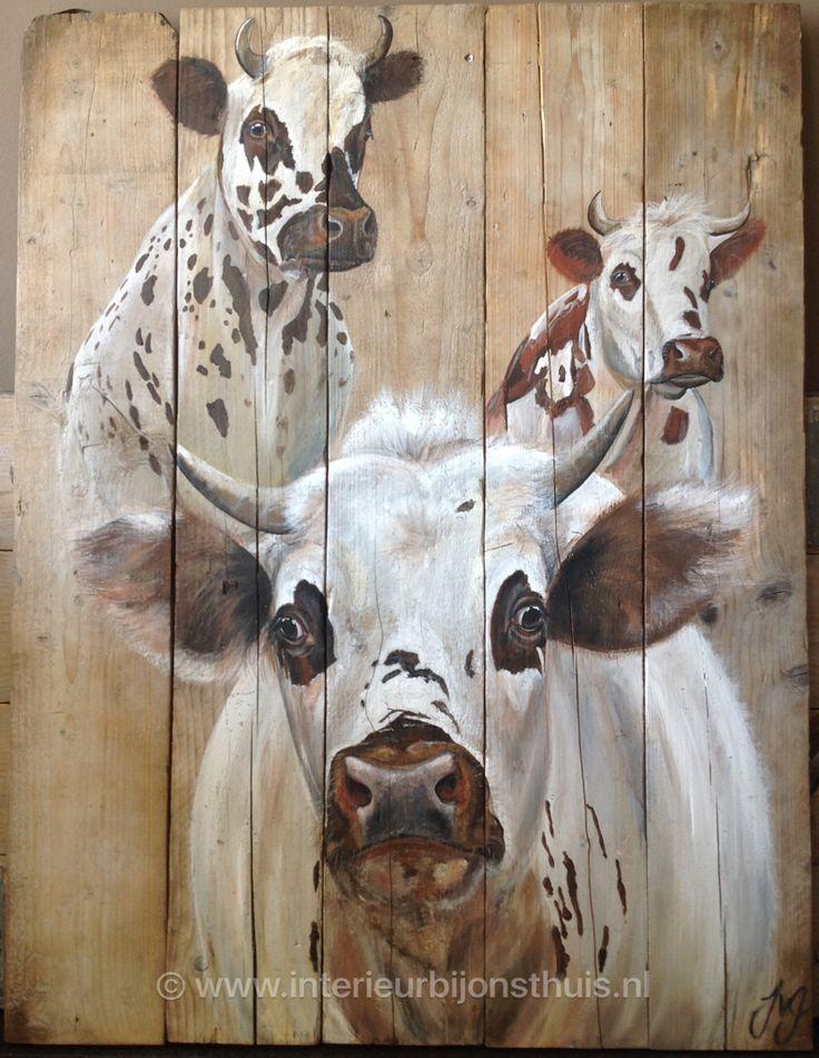 25 beste idee n over koeien keuken op pinterest koeien decor - Foto van slaapkamer schilderij ...