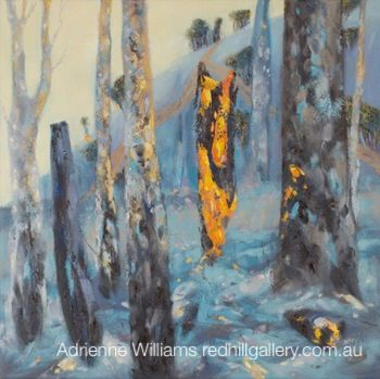 Adrienne Williams Painting Red Hill Gallery, Brisbane. redhillgallery.com.au