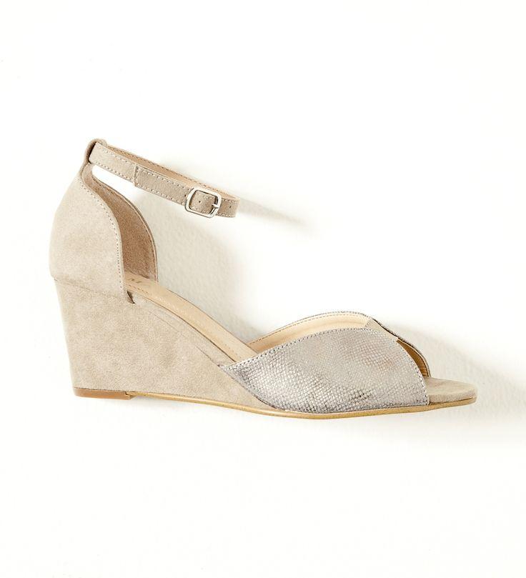 Sandales compensées bi-matière Camaïeu 2017