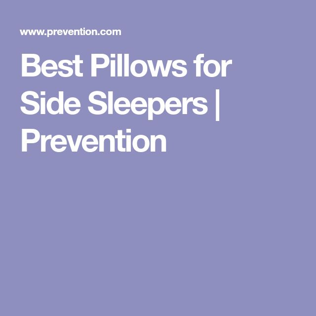Best Pillows for Side Sleepers | Prevention