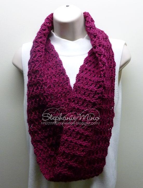 Infinity scarf done in Caron Simply Soft yarn Crochet ...