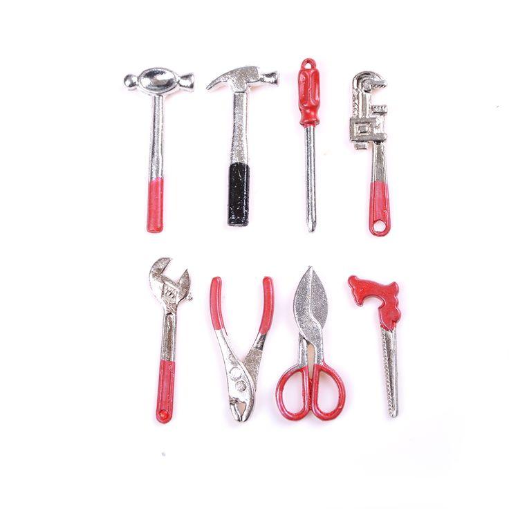 Aliexpress.com: Comprar 1/12 casa de muñecas accesorios de casa de muñecas en miniatura de madera caja de herramientas con herramientas de reparación kits de decoración de metal para muebles toys de miniature wood fiable proveedores en XuHao Chen's store