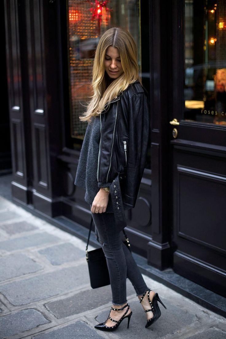 Linn Herbertsson in Second Skin leather jacket from ROCKANDBLUE x Caroline Sandström