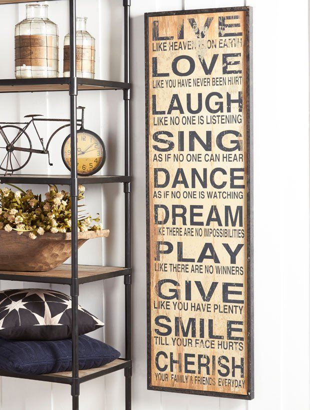 Large Vertical Inspirational Wall Sign Wall Signs Wall Decor Living Room Kitchen Decor
