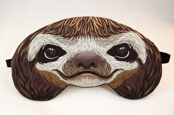 Sloth Sleep Mask by appendageaccessories on Etsy