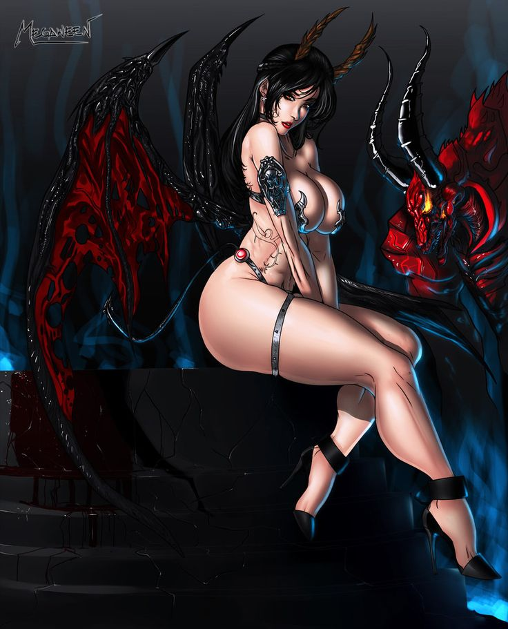 Excellent sexy hot nude female demons