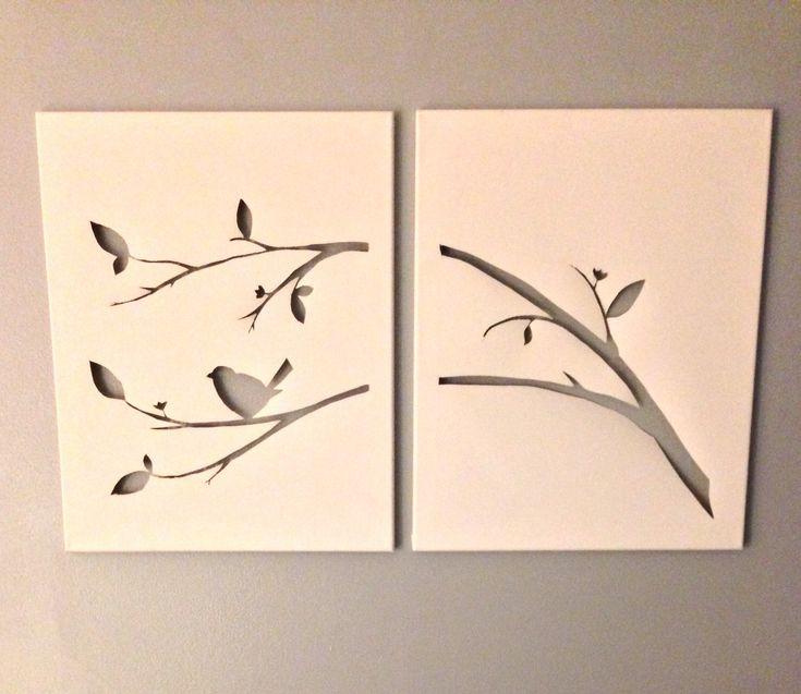 Cut canvas