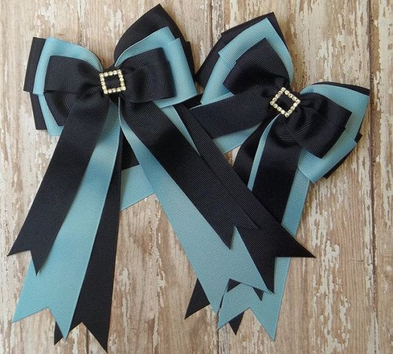 Pony Kid Equestrian Hair Bow Set  Horse Show by TheYoungEquestrian, $24.00