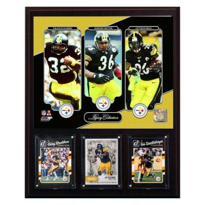 C & I Collectables NFL 12 x 15 in. Pittsburgh Steelers Running Back Legacy Collection Plaque - 1215STEELRBLEG