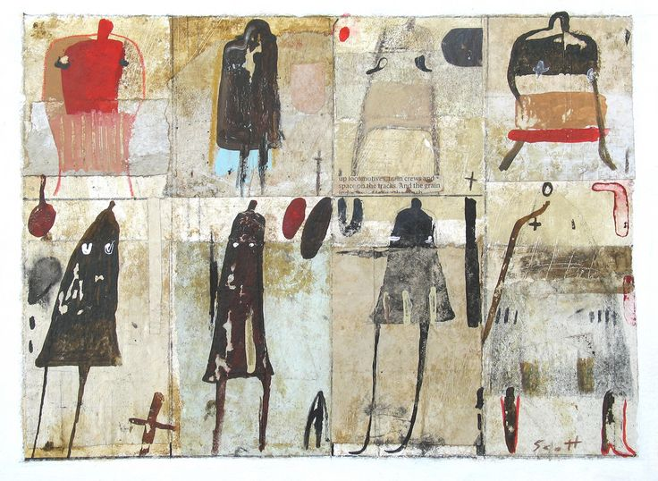 9 x 12 , mixed media collage/painting on paper. September 2015. www.etsy.com/ca/shop/ScottBergey