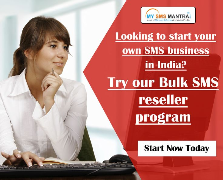 Looking to start your own SMS business in India? Try our Bulk SMS reseller program that includes white label website & technical support all in competitive. Know more visit : http://www.mysmsmantra.com/reseller.html