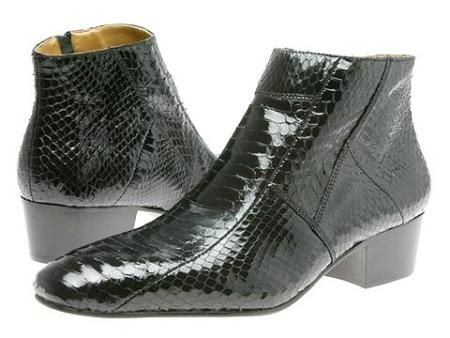 Mens boots for only US $139,pointy toe demi-boot in genuine snake skin with side gore.Buy more save more. Buy 3 items get 5% off, Buy 8 items get 10% off.