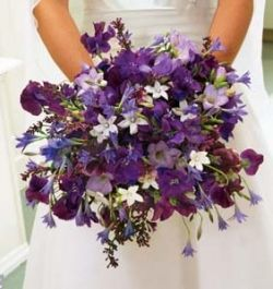 Beautiful floral arrangement - perfect for purple weddings