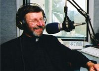 EWTN radio - a list of shows along with the phone numbers to call if you want to ask a question are on this site