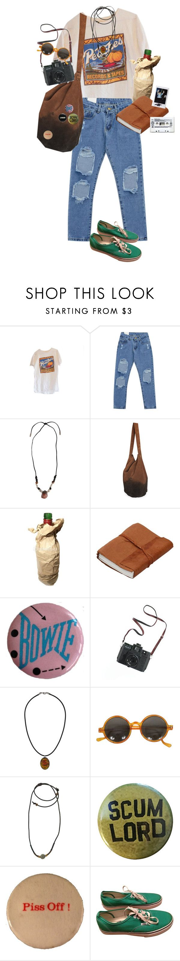 """""""peaches succ"""" by kampow ❤ liked on Polyvore featuring Chicnova Fashion, Yves Saint Laurent, Madewell, Topshop, 1928, Vans, indie, Punk, grunge and art"""