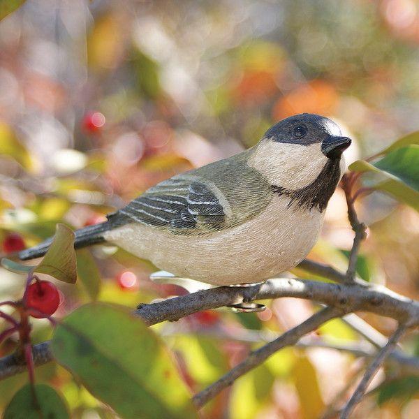 ... 小鳥クリップガーデンオーナメント -白- (置物 オーナメント 庭 かわいい 鳥 野鳥 動物 オブジェ ...
