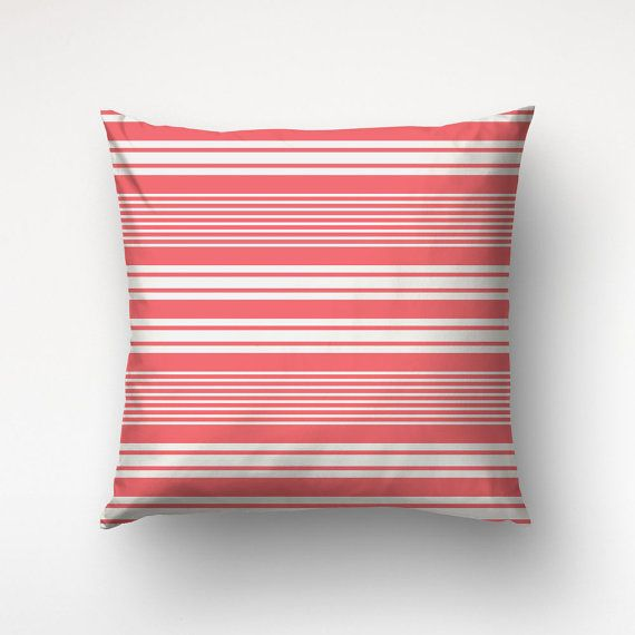 Striped Pillow Cover, Personalized Color, Minimalist Pillows, Polyester Fabric
