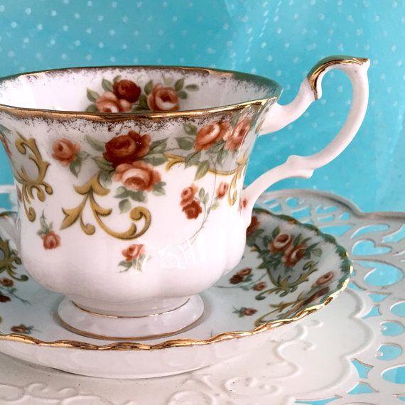 Royal Albert Tea Cup and Saucer Antique by VintageTeacupShop