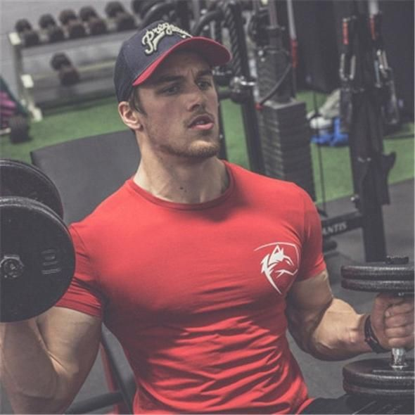2018 Summer Fashion Brand T Shirt Mens Gyms Clothing Wolf Head Print S Geekbuyig Bodybuilding Shirt Gym Outfit Men Mens Tshirts