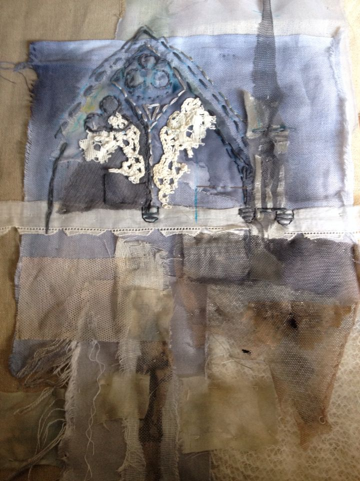 Work in progress - Laura Edgar #textile art #hand embroidery
