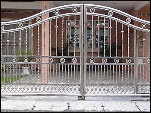 Best 25 steel gate ideas on pinterest gate steel gate for Stainless steel driveway gates designs