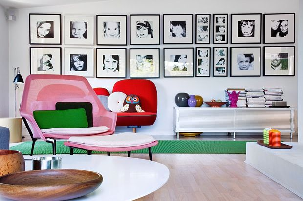 The Design Chaser: Homes to Inspire | Colourful DesignDecor, Inspiration, Chairs, Colors Furniture, Interiors Design, Colors Home, Photos Wall, House, Pictures Wall