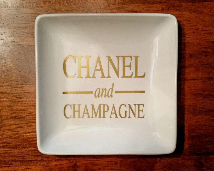 Large Chanel and Champagne Ring & Jewelry Dish/ Chanel /Champagne/ Chanel Tray/ Chanel Jewelry/Jewelry Tray /Personalized Gift / Custom Gift by SwedeSpeed on Etsy https://www.etsy.com/listing/232005501/large-chanel-and-champagne-ring-jewelry