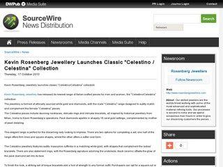 "Kevin Rosenberg Jewellery Launches Classic ""Celestino / Celestina"" Collection"