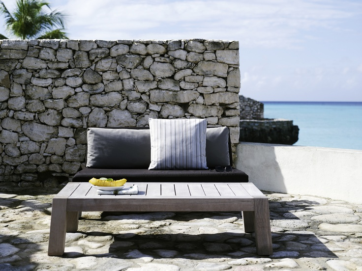 Piet Boon Styling by Karin Meyn   Outdoor seating detail with a brightening yellow touch