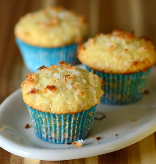 One Bowl Coconut Muffins | Baking Bites