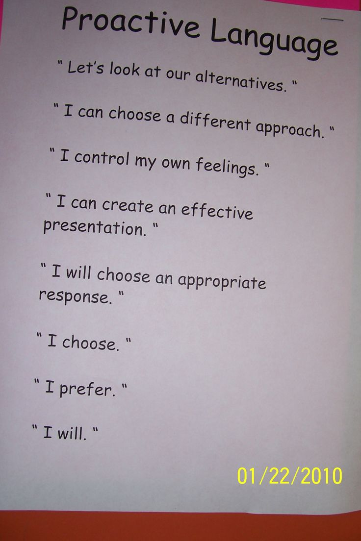 Proactive Language-Leader in MeLeader In Me Classroom Ideas, Guide Languages, Leadership In Me, Leadership Habits, Languages Skills, 7 Habits For Happy Kids, Leader In Me Proactive, 7 Habits Kids, Lakes Country