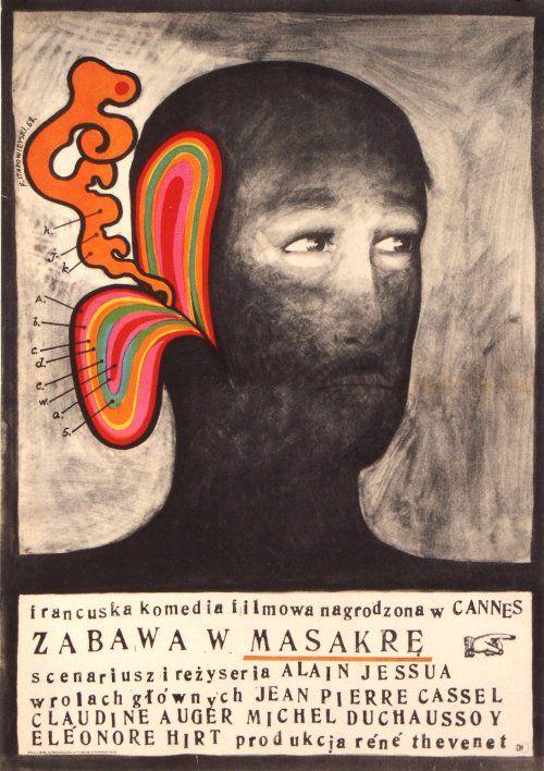 Franciszek Starowieyski, The Killing Game, Original Polish Movie Poster, 1968