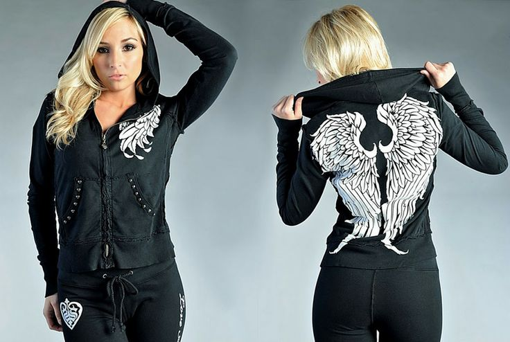 Sinful Wings tracksuit black [Sinful tracksuit] - $52.00 : Affliction clothing sale online,wholesale Affliction clothing online, Affliction ...