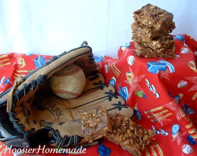 Baseball Treats~Babe Ruth Bars & Baseball Cupcakes