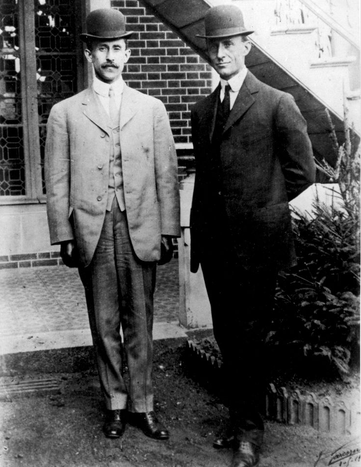 The Wright brothers, Orville (August 19, 1871 – January 30, 1948) and Wilbur (April 16, 1867 – May 30, 1912), were two Americans brothers, inventors, and aviation pioneers who were credited with inventing and building the world's first successful airplane and making the first controlled, powered and sustained heavier-than-air human flight, on December 17, 1903. In the two years afterward, the brothers developed their flying machine into the first practical fixed-wing aircraft.