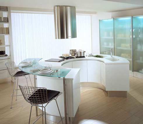 Yeah, Definitely Outside Kitchen Area. Modern Round Kitchen Design By Pedini  · Moderne KüchenWeiß ...