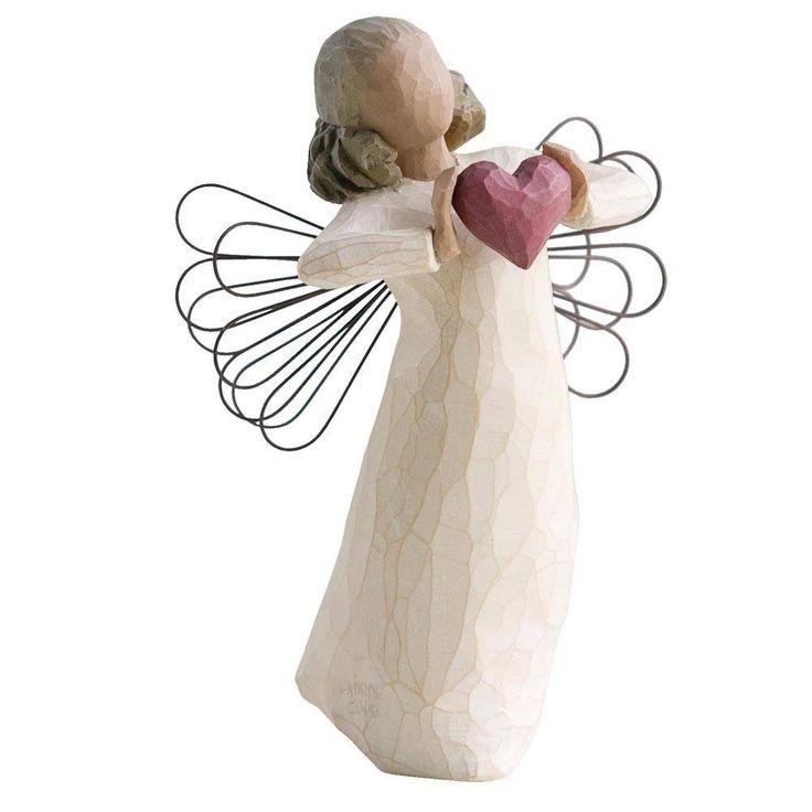 Willow Tree engeltje dat dansend haar hart aan je schenkt. Je bent geliefd! Symbool voor vriendschap en/of liefde. Hoogte 14 cm.