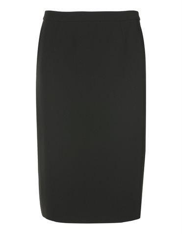 Kostüm mit Schößchen , Shirt mit gedrehter Ausschnittkante