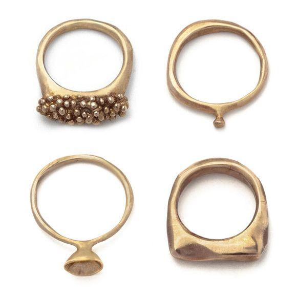lovely bronze rings by Julie Cohn