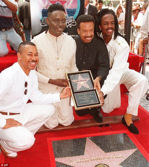 Earth Wind & Fire - Shining stars: Maurice, in black, joined his brother Verdine, on the right, and band membe...