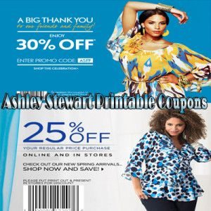 Ashley stewart in store coupons