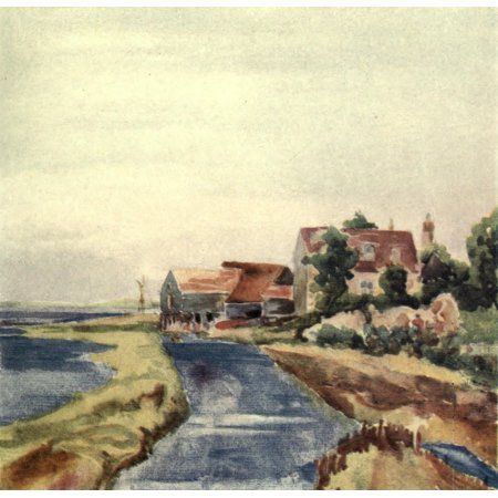 A Floating Home 1918 Landermere Essex Canvas Art - Arnold Bennett (18 x 24)