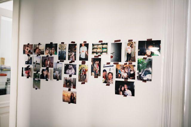 Cool photo wall idea
