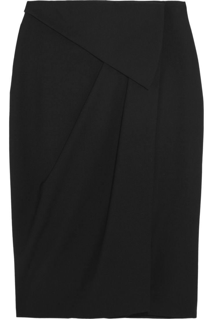 Vionnet draped wool-blend wrap skirt   THE OUTNET #Work