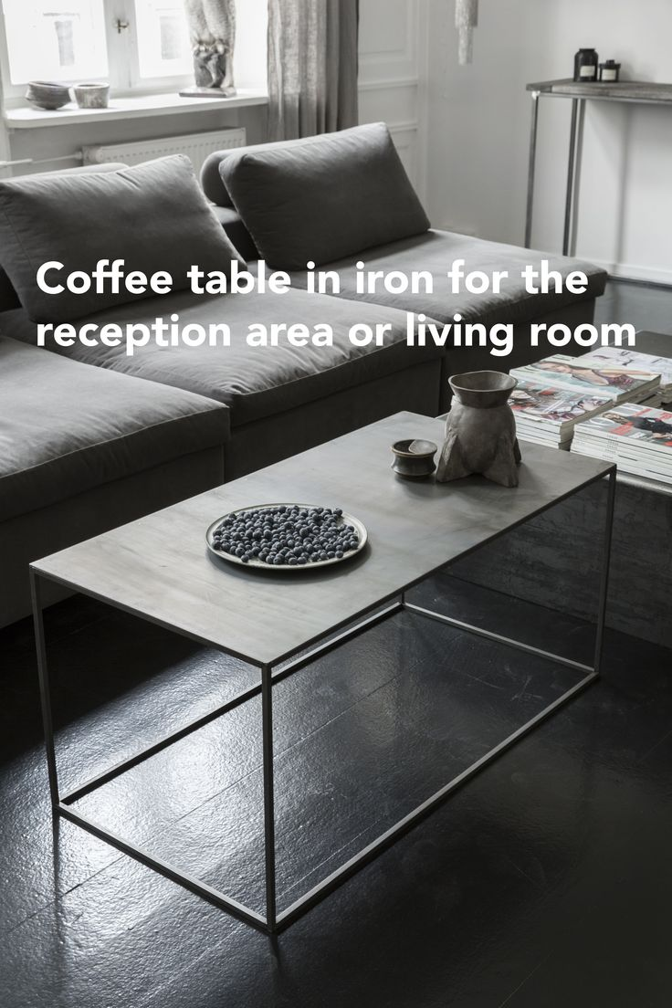 Coffee table in iron. Sofabord i jern.