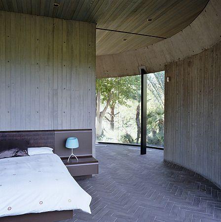John Lautner Timber Board Shuttering Off Form Concrete