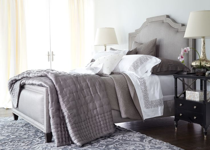 Retreat to the soft and cozy Quinn upholstered bed.  Customize your Quinn bed with the Ethan Allen of Orland Park design center.